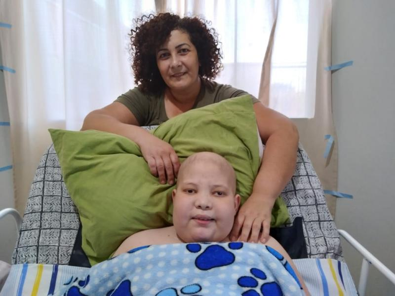 Cedida - Breno recebe cuidados integrais da mãe