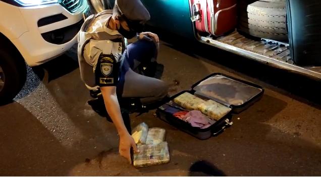 Polícia Militar Rodoviária - Mala estava no bagageiro externo do ônibus