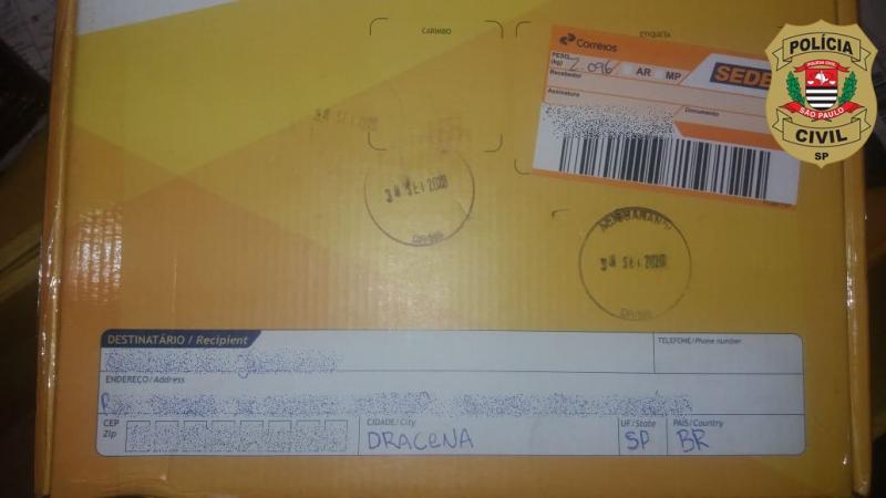 Polícia Civil - Encomenda foi recebida via serviço postal