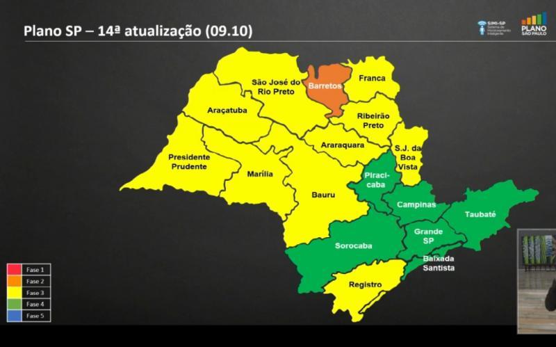 Divulgação - Novo mapa do Plano São Paulo foi apresentado em coletiva do governo estadual