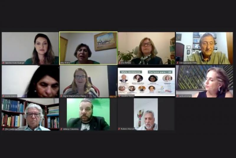 Reprodução - Painel de debate do fórum com a participação da representante da Unoeste, a doutora Alba Arana