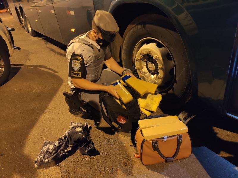 Foto: Polícia Militar Rodoviária - Entorpecentes teriam como destino a cidade de Presidente Prudente