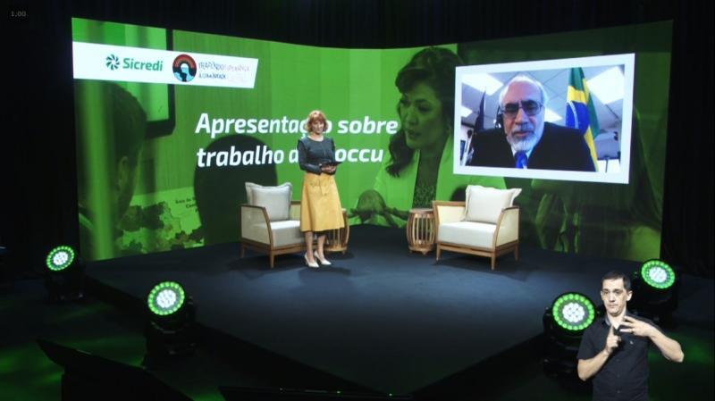 Divulgação: Abertura da edição 2020 do Encontro Nacional com Jornalistas, realizado esse ano de forma virtual, pelo Sicredi