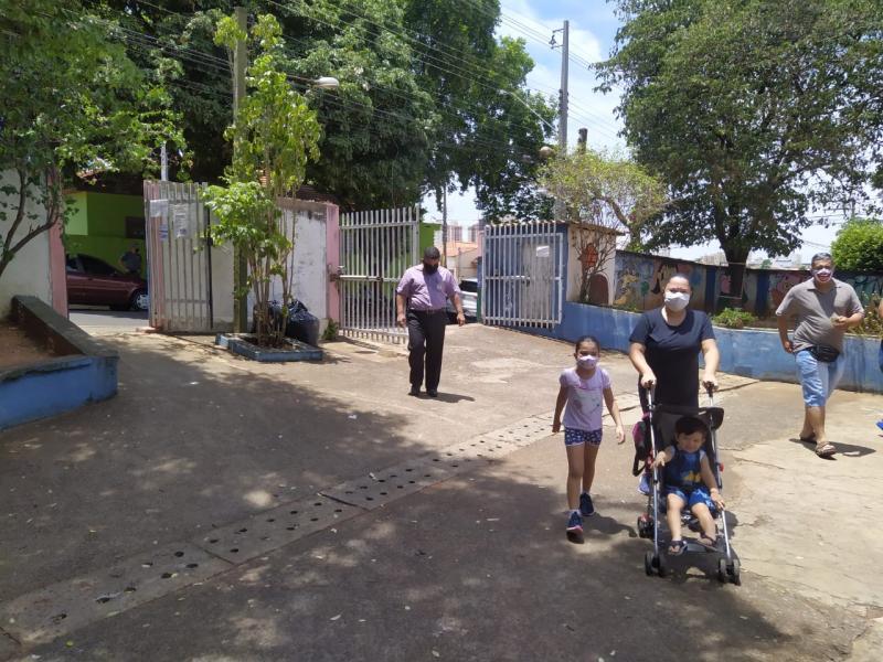 Cedida - Major Glauco votou na Escola Municipal Doutor João Franco de Godoy