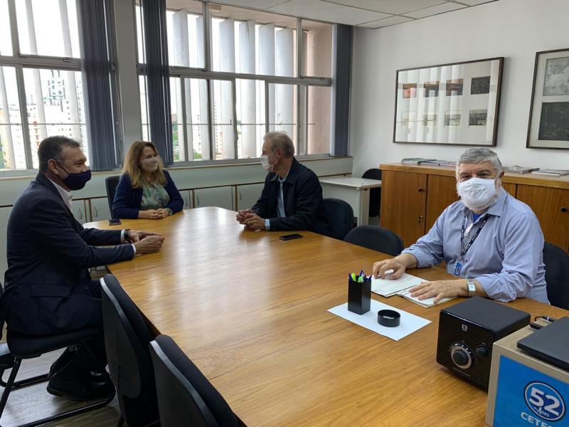 Cedida - Bugalho se reuniu com diretora-presidente da Cetesb, Patrícia Iglecias