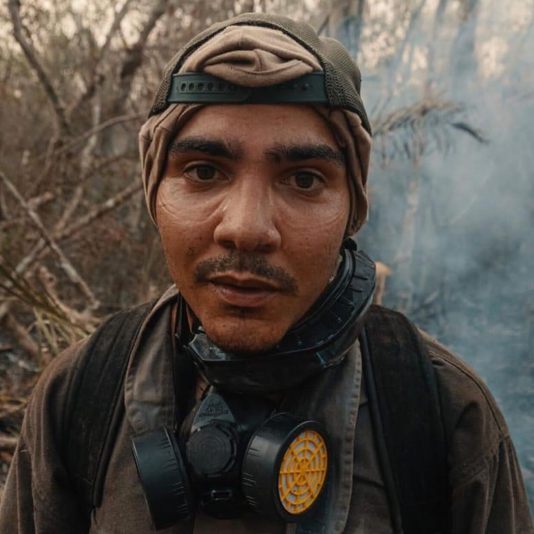Para Thiago foi uma realização poder ajudar a apagar as chamas que estavam consumindo o Pantanal