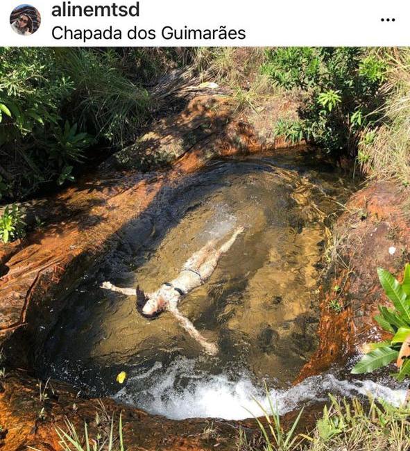 Aline Matsuda: mergulho na Chapada dos Guimarães