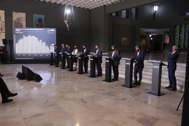 Doria confirmou encontro para discutir medidas adicionais e conjuntas de enfrentamento à pandemia