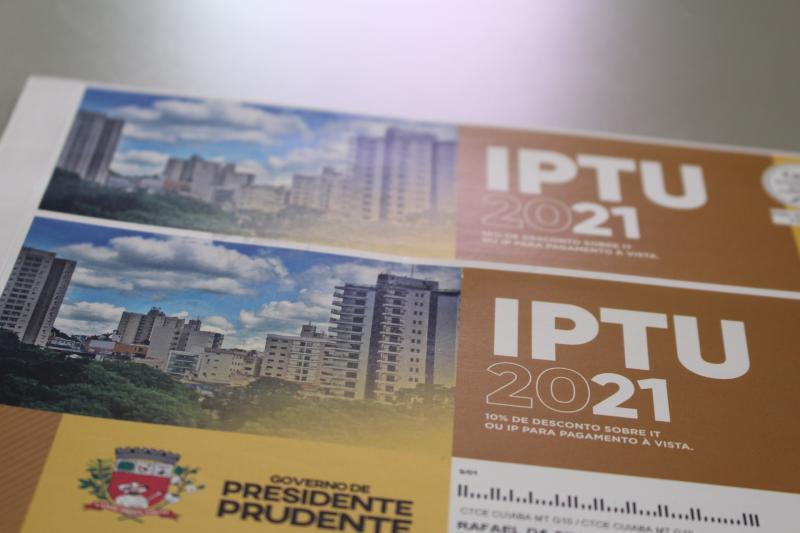 Prefeitura oferta desconto de 10% para quem realizar o pagamento à vista em parcela única