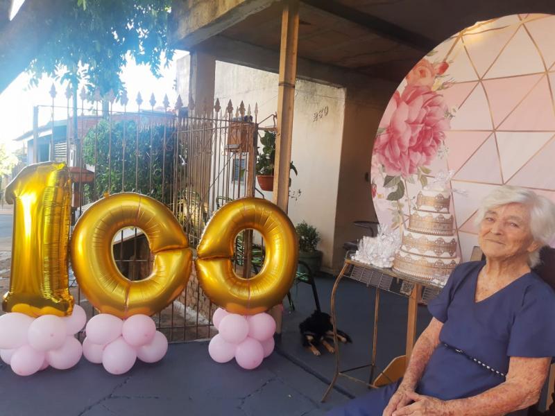 Dona Bertolina alcançou os 100 anos no dia 24 de dezembro