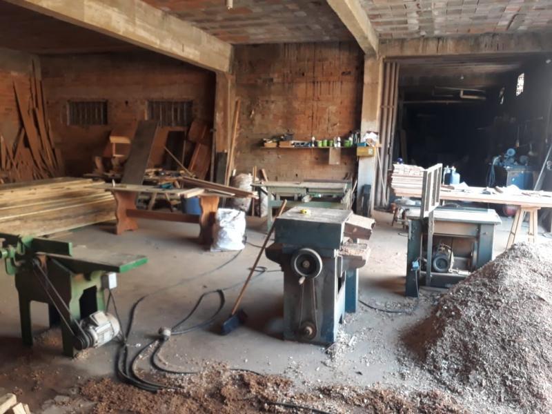 Foi feito o bloqueio administrativo do pátio madeireiro para regularização