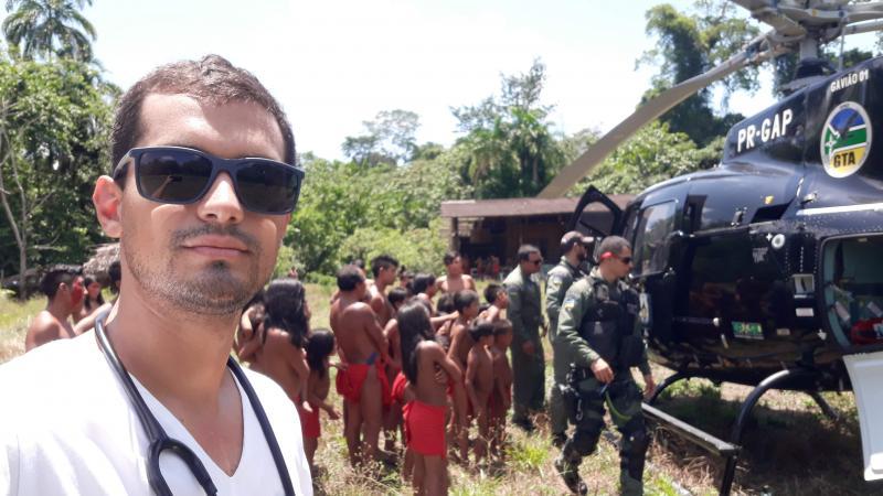 Boninho contou que equipes do Estado estão percorrendo as 23 aldeias da região essa semana, com a missão de vacinar aproximadamente 13 mil índios