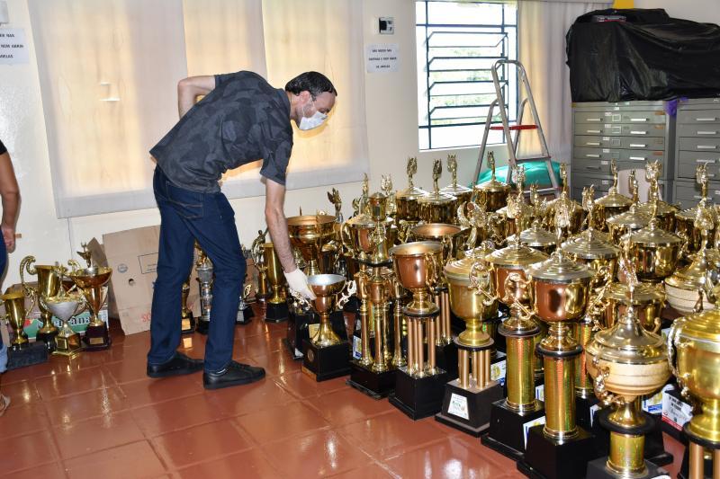 Previsão é criar uma sala de troféus dentro do museu, para que fique exposto à visitação pública