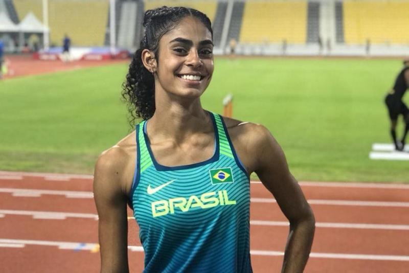 Aos 20 anos, Maria Victória é a 3ª melhor atleta do país na categoria 400 m