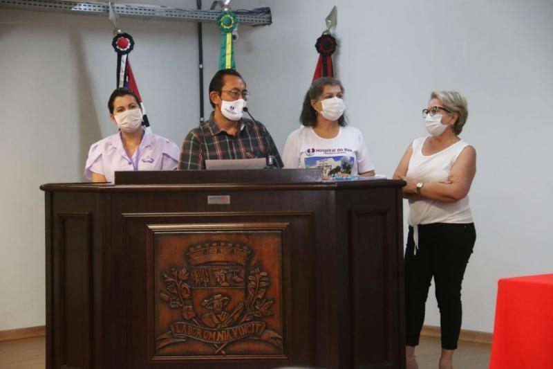 Tuboni também entregou o portfólio do projeto de construção do Hospital do Rim
