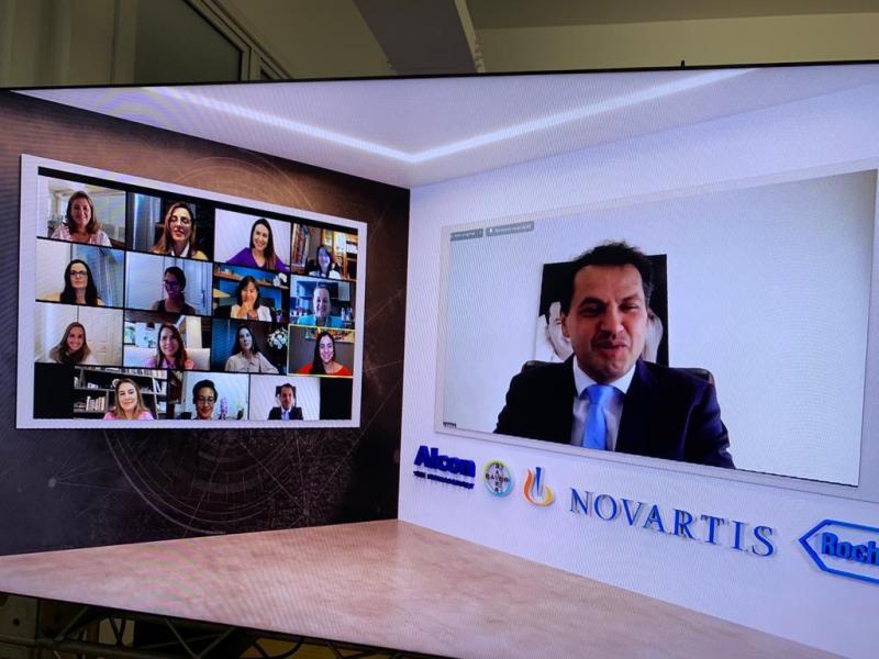 Prof. Dr. Maurício Maia durante a 45ª edição do evento da Sociedade Brasileira de Retina e Vítreo