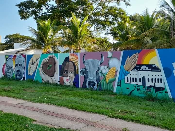 180 m² de grafite narram a história da cidade contida no hino de Presidente Prudente