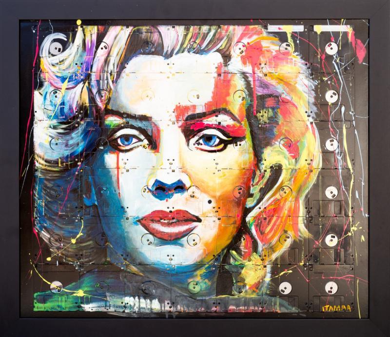 A bela, ousada e polêmica Marilyn Monroe (65x75cm) é uma das obras do artista que estará exposta