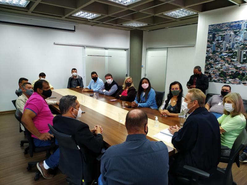 Executivo se reuniu com vereadores da Câmara Municipal nesta sexta