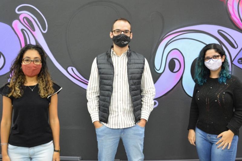 Arquiteta Isabella Taguti (à esq.) se reuniu com Diego Andreasi e Jéssica Galindo, da Inova Prudente