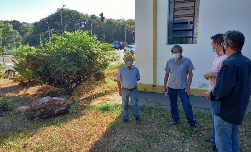 Recuperação do jardim integra o projeto de reforma realizado em todo o complexo