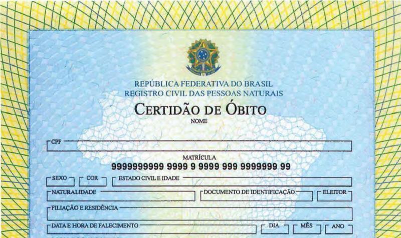 Dados são do Portal da Transparência do Registro Civil, base abastecida pelos atos dos óbitos praticados por cartórios