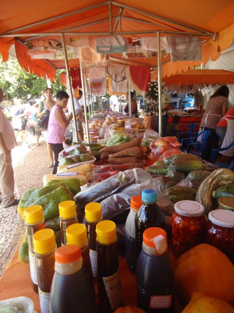 Quem passar pelo arraia poderá comprar verduras, legumes, frutas, a exótica pitaya e produtos processados, etc
