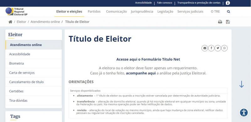 Site do TRE-SP disponibiliza atendimento virtual aos cidadãos