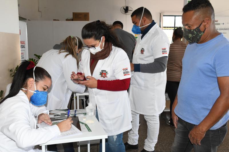 No final de junho, Prudente deu início à vacinação de pessoas com mais de 40 anos