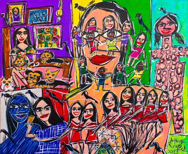 Obra da artista prudentina no Museu de Arte Sacra de São Paul