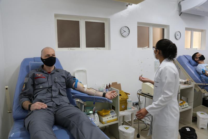 Capitão Pavesi participou da campanha de doação