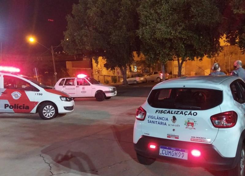Força-tarefa para coibir aglomerações atuou de quinta a domingo em Prudente