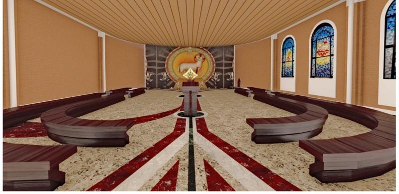 Capela do Batismo e Capela do Santíssimo em fase de acabamento