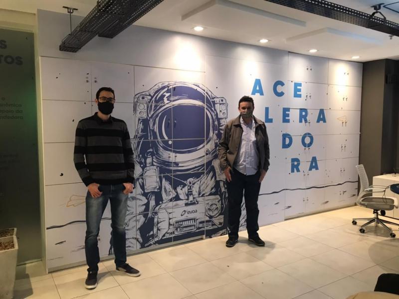 Wilson e Kako também estiveram na Evoa Aceleradora, que funciona em parceria com a Acim