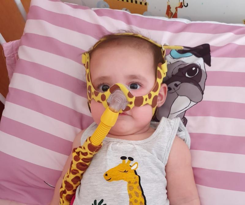 Valentina foi diagnosticada com atrofia muscular espinhal aos cinco meses de idade