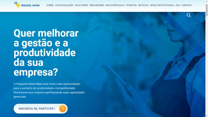 Inscrições podem ser feitas pelo site do Programa Brasil Mais
