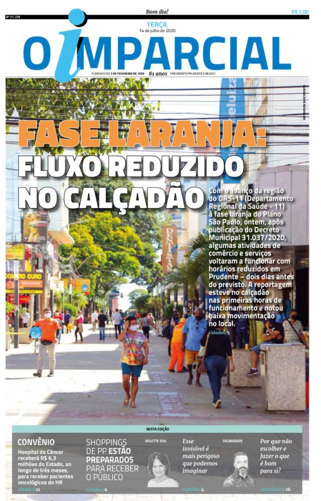 FASE LARANJA: FLUXO REDUZIDO NO CALÇADÃO - Fase laranja: fluxo reduzido de pessoas no calçadão