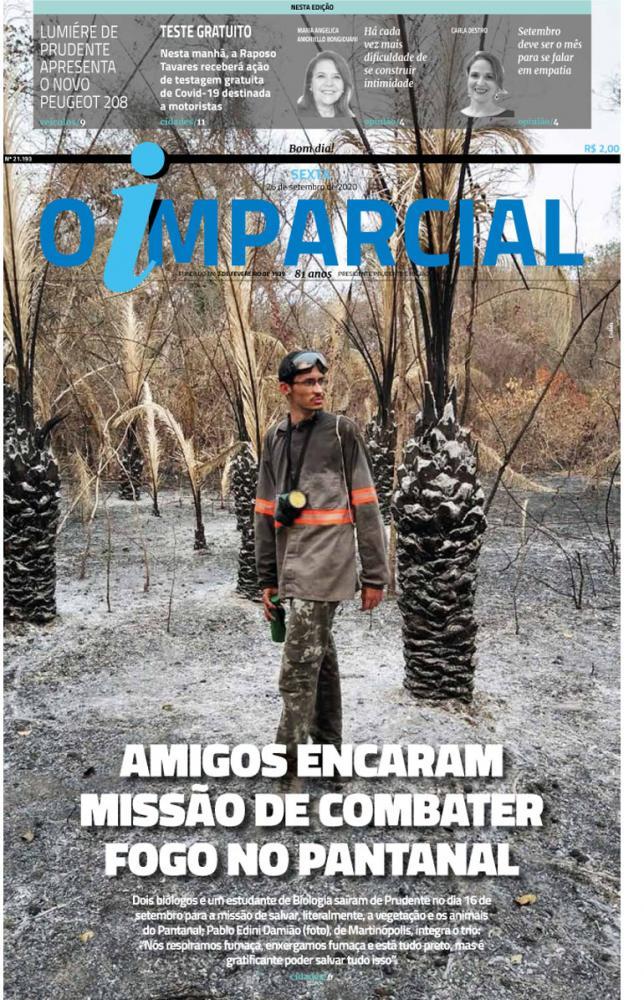 AMIGOS ENCARAM MISSÃO DE COMBATER FOGO NO PANTANAL - Amigos da região atuam no combate ao fogo do Pantanal
