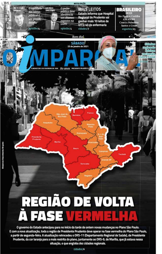 REGIÃO DE VOLTA À FASE VERMELHA - DRS de Prudente retrocede e região toda está na FASE VERMELHA