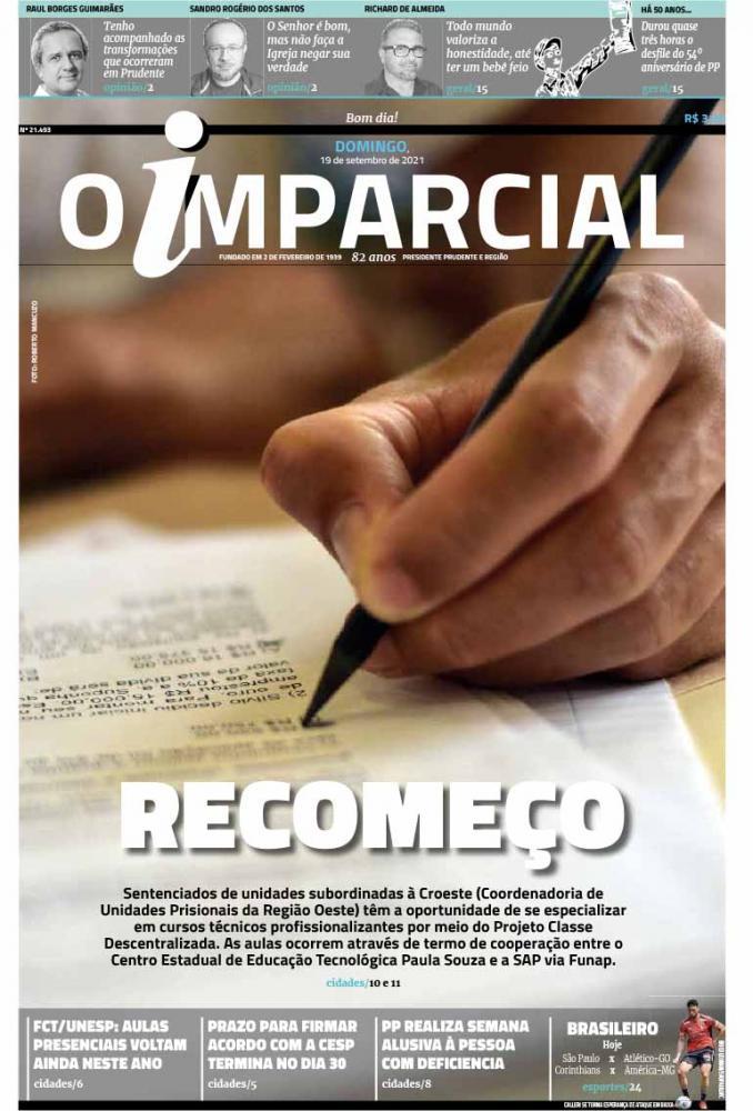 RECOMEÇO - Projeto oferece curso profissionalizante a presos