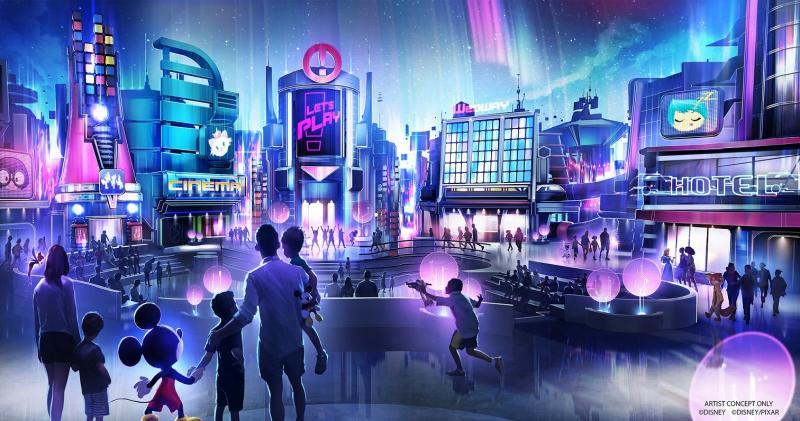 Nessa imagem a Disney demonstra como ficará o pavilhão Epcot Play