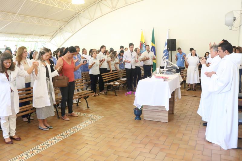 Cedida/AI do HR - Missa em homenagem ao aniversário da unidade foi celebrada na manhã de ontem