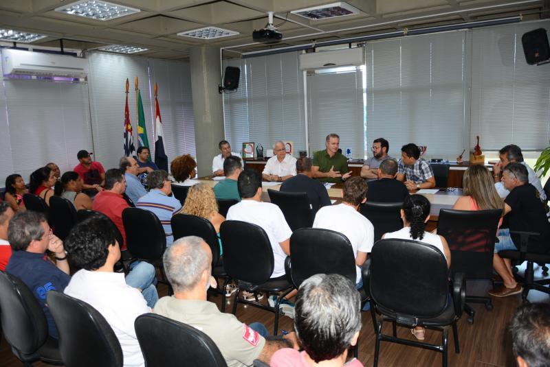 Marcos Sanches/Prefeitura de Prudente - Grupo de 30 boxistas se reuniu com prefeito ontem