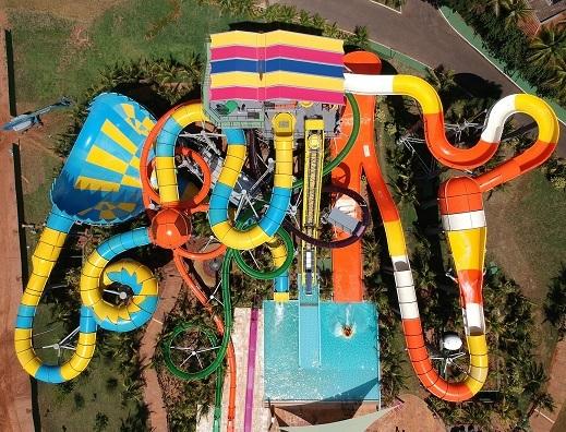 Thermas dos Laranjais: Novo complexo de toboáguas radicais inaugurado pelo parque aquático Thermas dos Laranjais, em Olímpia, no interior paulista