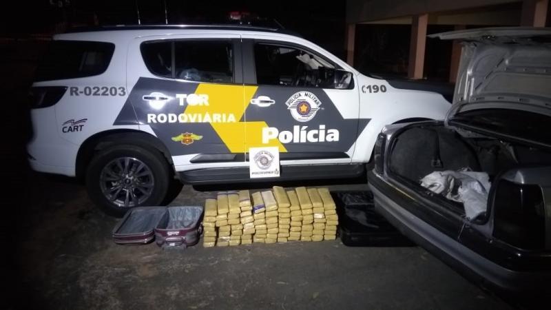 Polícia Militar Rodoviária - Entorpecentes seriam levados a São José dos Campos (SP)