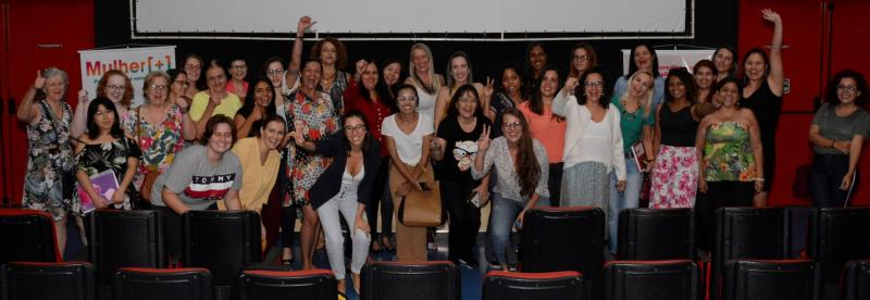 Participantes do Ciclo de Palestras Mulher +, no Centro Cultural Matarazzo