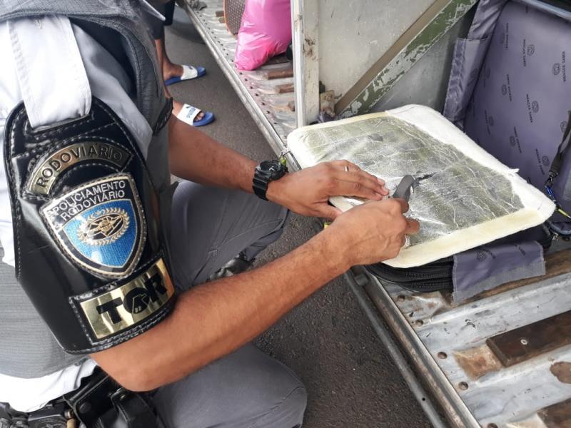 Polícia Militar Rodoviária - Entorpecentes ficaram apreendidos na Polícia Federal