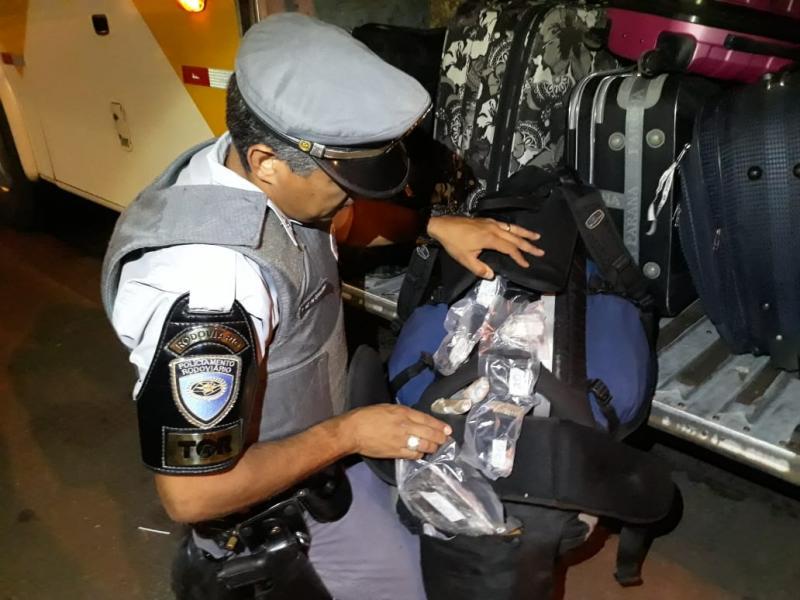 Polícia Militar Rodoviária:Entorpecentes foram comprados por R$ 7 mil