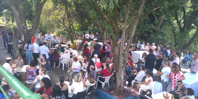 Weverson Nascimento:Assistidos, familiares e parceiros participaram dos festejos de 80 anos da fundação