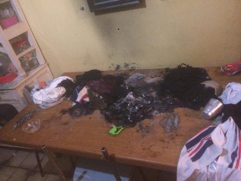 Polícia Militar:Chamas foram controladas pelo proprietário da casa